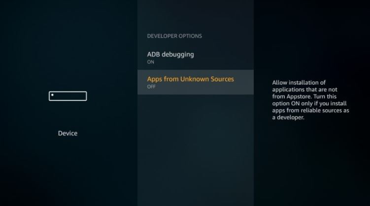 apps from unknown sources firestick