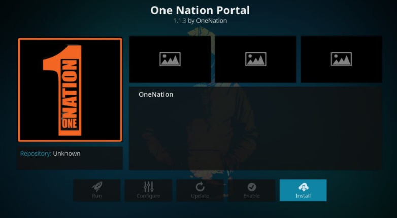 one nation portal install
